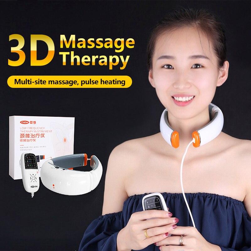 Cofoe Cervical Vertebra BT-JZ Cervical Spondylosis Massager Household Hot Compress Pillow Neck Pain Traction Physiotherapy<br>