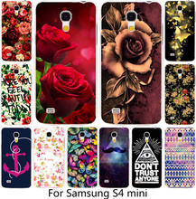 :Best selling painted Beautiful Butterfly Flower Rose Peony PC Phone Case For Samsung Galaxy S4 mini i9190 9190  Cases Hood Capa