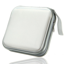 40 CD DVD Disc Storage Carry Case Cover Holder Bag Hard Box - White