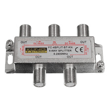 4 Way Satellite Cable signal 5-2450MHZ Splitter(China)