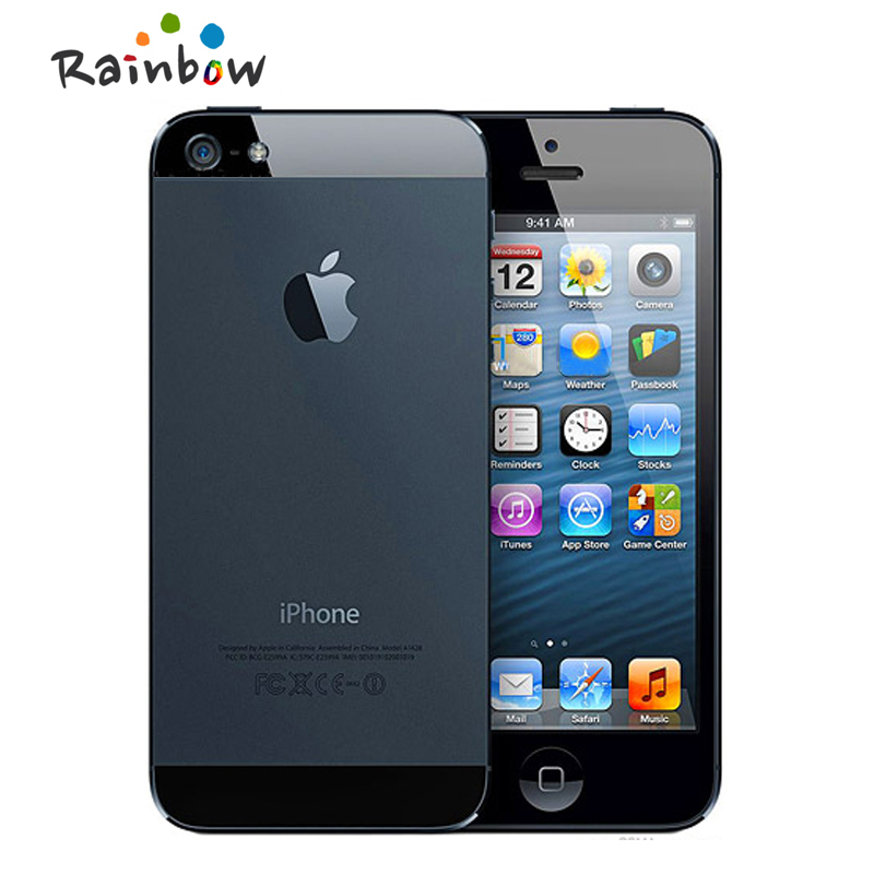 Unlocked Original iPhone 5 Dual-core 1G RAM 16GB/32GB/64GB ROM 4.0 inches 8MP Camera WIFI GPS Cell Phones(China)