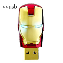 vvusb LQQW004 Iron man  USB Flash Drive 64GB 32GB Cool pendrives16GB 8GB Car Key Memory Stick Flash Pen Drive U disk thumbdrives