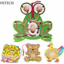 Wooden Toys Puzzle Animal Frog Duck Puzzles Educational Learning Toys Games for Children Kids Intellectual Games Toy Brinquedos