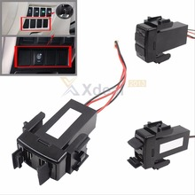 ABS Dashboard Fast Charger Dual USB Ports Dashboard Fast Charger 2.1A 5V for NISSAN for Teana for Sylphy Adapters Sockets