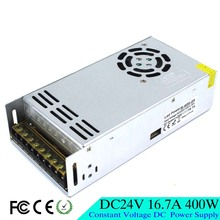 High quality Small Size 400W 16.7A 24V DC Power Supply Switching 110V 220V AC DC 24V SMPS For Led Strip Light CNC CCTV Motor