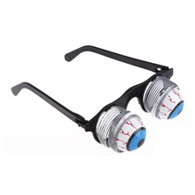 Scary Pop Out Eye Dropping Eyeball Glasses Horror Terror Frighten Halloween Party Prank Joke Glasses