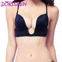 Women Deep U Plunge Bra Sexy Seamless For Wedding & Evening Dress 15pcs/Lot