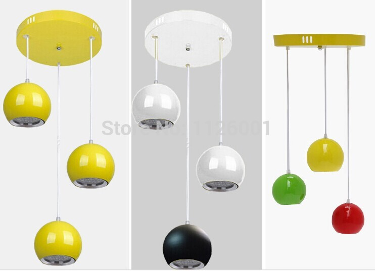 Led Light Luminaria Teto New Design Modern Dining Room Aluminum Pendant Bar Lamps Red Black White for Choice free Shipping<br>