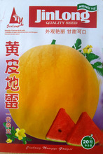 1 Original Packing, 10pcs seeds, Yellow Mines watermelon red flesh watermelon seed 14.5% high sugar content