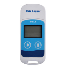 Mini USB Battery thermocouple data logger Temperature Sensor USB Temp Recorder Blue Color