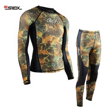 Slinx  Mens rash guard  swim shirt spearfishing lycra suit  diving Camo  rashguard Surf shirts Beach Swim  UV Protection