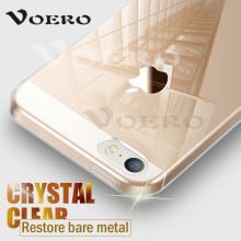 VOERO Transparent Protect Case For iPhone 5 5s 6s Plus Royal Luxury TPU Phone silicone soft Back Case Cover For iPhone 7 8 Plus(China)