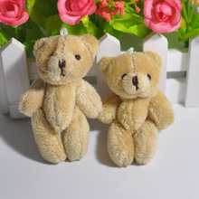 New 10PCS Super Kawaii 8CM Joint Teddy Bear Plush TOY DOLL DIY garment /hat/gloves Accessories  for phone bag