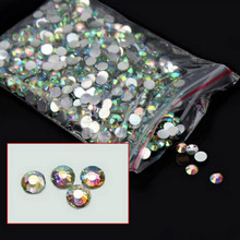 2~4mm Acrylic Rhinestones for Nails Clear Crystal AB Nails Supplies 3D Strass Nail Art Charms Deco Ongle Nail Jewelry ZJ1169