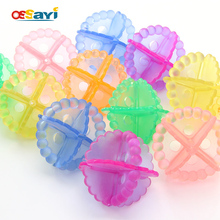 1Pc Magic Soft ECO Laundry Balls Fabric Underwear Bra Washing Balls For Washing Machine Clothes Anti-knot Winding Random Color(China)
