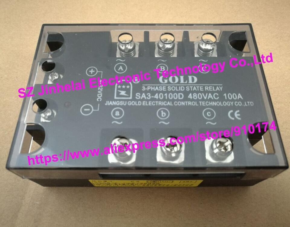 New and original  SA340100D  SA3-40100D  GOLD three-phase Solid state relay   480VAC 100A<br>