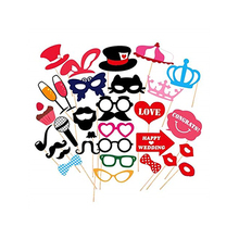 31pcs Funny Photo Booth Props Mustache Mask Wedding Party Photo Booth Props Photobooth Funny Masks Bridesmaid Gifts For Wedding(China)