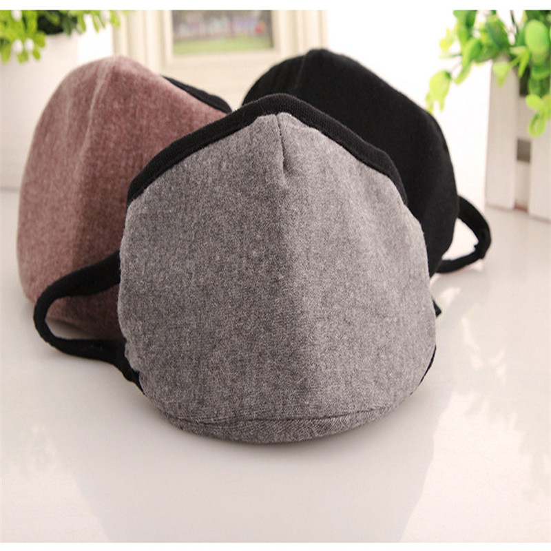 10pcs/bags Boutique men's masks solid color men and women cotton bag jaw dust masks winter new manufacturers wholesale(China (Mainland))