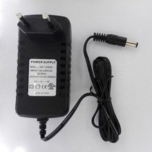 Universal DC 12V 2A AC 100-240V EU Plug Power Adapter 12 Voltage Switching Two Round Pin Supply Output 2.5-5.5mm for CCTV Camera