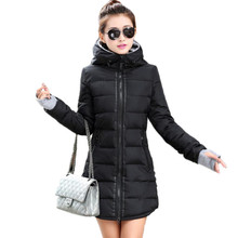 k'raifls Womens Winter Jackets and Coats Navy and Black New Long Cotton Parka Female Jacket Coat Plus Size Slim Casual Outwear