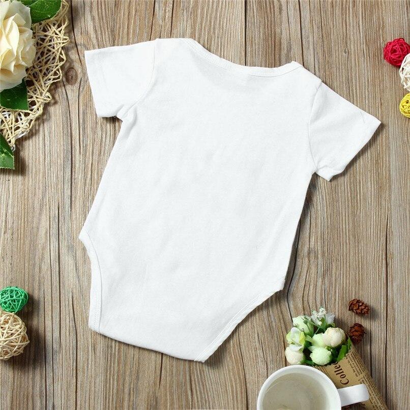 Summer Babys Romper Jumpsuit Toddler Infant Baby Girl Boy Short Sleeve Letter Romper Jumpsuit Baby Boy Girl Clothes M8Y18 (6)