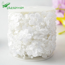 Hot Party Wedding Decoration 5m/10m of 4mm Bead Pearl String Ivory/White for Craft Artificial Flowers Valentine's Day Present,Q(China)