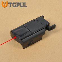 TGPUL Ultrathin Compact Airsoft Pistol Laser Pointer Glock 17 18C 19 22 Red Laser Sight Plastic Low Profile Red Dot for Hunting(China)