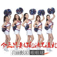1pcs Metallic Cheerleading Pom Poms Aerobics Show Dance Hand Flowers Cheerleader Pompoms for Football Basketball Match Pompon