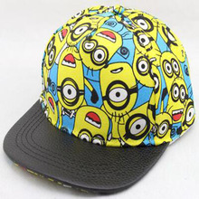 Minions 2016 New Children baseball cap Fashion Adjustable Children Snapback Caps Gorras Gorras Planas Boys Girls Hip-Hop Hat