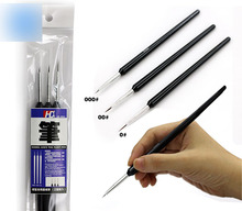 Model coating Very fine Color pen Face pen Hook pen 3pcs Free Shipping(China)