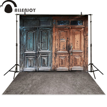Allenjoy photography background vintage wooden door photo studio props photobooth photocall fantasy background newborn