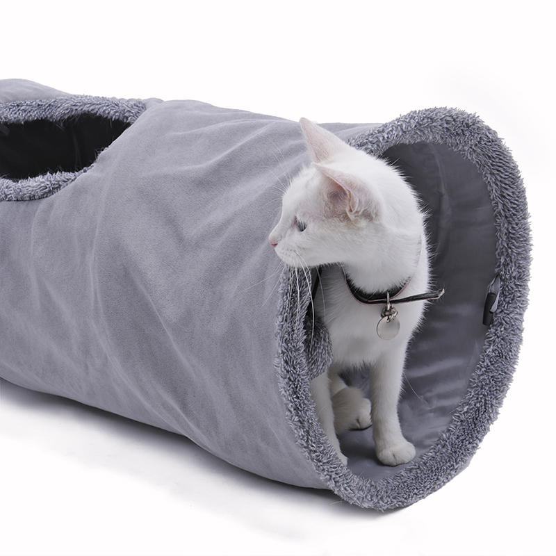 big cat tunnel Big Long Cat Tunnel with Play Ball Suede Material-Free Shipping HTB1LsO5qrsTMeJjSszhq6AGCFXaU