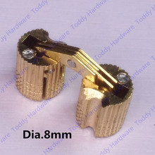 8mm Brass Invisible furniture hinge Hidden Hinges Barrel Hinge(China)