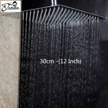 Stainless Steel 12 Inch Bathroom Rain Shower Head Square Chrome Ultra-Thin Showerheads Rainfall Shower Head Rain Shower(China)