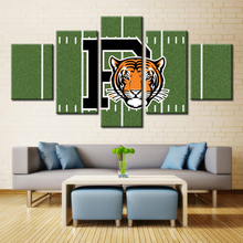 With A tiger head 5 panel canvas painting printing home decoration coating waterproof wall picture