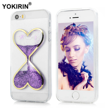 Heart Shape Hourglass Liquid Quicksand Soft TPU Case Cover For iPhone 7 6 6S 5 5S Samsung Galaxy S8 Plus J5 2016 Huawei P9 Lite