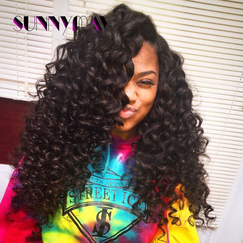 Sunnymay Hair Wig Curly Lace Front Wig Beautiful 8mm Curly Natural Color Indian Virgin Hair Full Lace Wigs In Stock 150% Density<br><br>Aliexpress