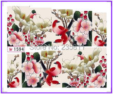 1X  Nail Art Water  Stickers Nail Decals Stickers Water Transfers Decal  Full Page Cover  Plum Flower SY1594