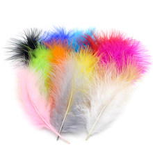 Lucia crafts 80-160mm DIY Dyed Fluffy Turkey Feather Colorful Wedding Decorations Elegant Party Clothes Feathers 077061(China)