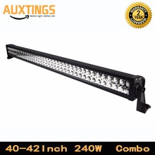 "DISCOUNT 42""INCH 240w watt led car roof rack light bar combo beam 19200lms 42inch led light bar for off road light in automotor"