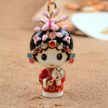 Folk Custom Jewelry Couple Keychain Romantic Gifts Car Key Metal Pendant Chinese Traditional Elements Action & Toy Figures GH266