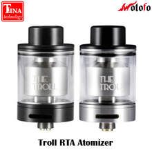 New Original Wotofo The Troll RTA Atomizer 5ml The troll Tank Dual coil flavor for Huge Vapor One post design Easy Build Deck
