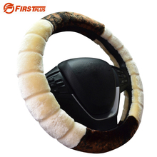 High Density Wool Winter Steering Wheel Covers Soft Plush Automobile Car Steering Wheel Cover for 35 36 37 38 39 40 diameter