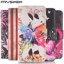 FRVSIMEM Butterfly Flower Flip Leather Wallet Case Book Stand Style Soft Cover For apple iphone 10 X 5 5s SE 6 6s 7 8 Plus