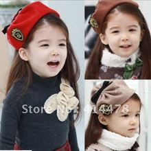 EMS&DHL Free Shipping!2012 Newest Christmas Gifts Children's Fedora Hat Kids,Fashion Tiny Beanie Caps For Girls,Best Selling!