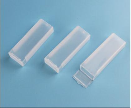 Laboratory Plastic Microscope Glass Holder Slide Box 10Pcs Each hold 1pcs slide