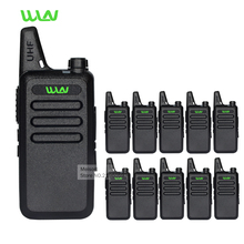 10pcs Professional Mini Walkie-Talkies WLN KD-C1 UHF Handheld Long Range 2 Way Ham Radios Small Portable Ham Radios Communicator(China)