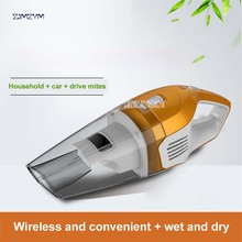 1PC BX-200 Cordless Mini Portable Vacuum Cleaner 100W power For Car Dry Wet Handheld Super Suction Dust Collector Cleaning 600ml(China)