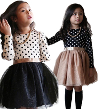 2017 New princess baby girl long sleeve dress Nova brand children clothing kids party tutu dress for girls clothes dresses