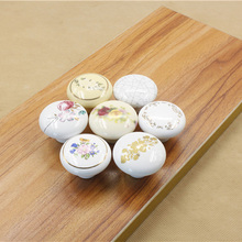 Round Knobs Ceramic Drawer Knob Cabinet Pulls Handle Fittings Closet Cupboard Furniture Hardware Kitchen Pull Handles